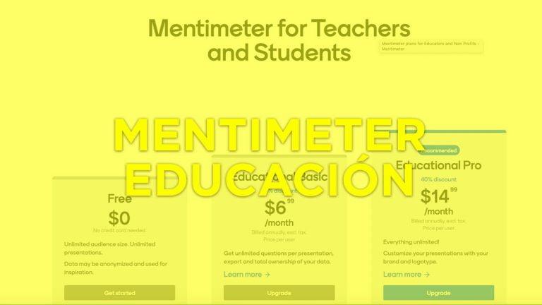 Mentimeter para educación, escuelas y universidades